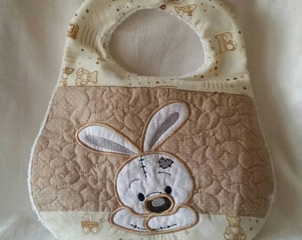 Cute  bunny baby bib for 6 to 9mths
