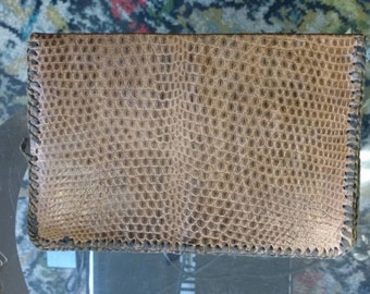 Vintage Snakeskin Wallet with Separate Compartments