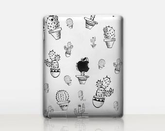 Cactus Transparent iPad Case For - iPad 2, iPad 3, iPad 4 - iPad Mini - iPad Air - iPad Mini 4 - iPad Pro