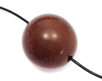Taguaperle, Brown, 20mm, 1 piece