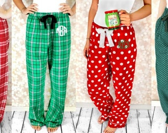 Christmas Pajamas, Family Christmas Pajamas, Monogram Pajamas, Youth Pajamas, Adult Pajamas, Christmas Pajamas, Bridal Pajamas, Sorority