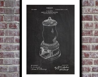 Gumball Machine Patent, Gumball Machine Poster, Gumball Machine Blueprint,  Gumball Machine Print, Gumball Machine Art, p149