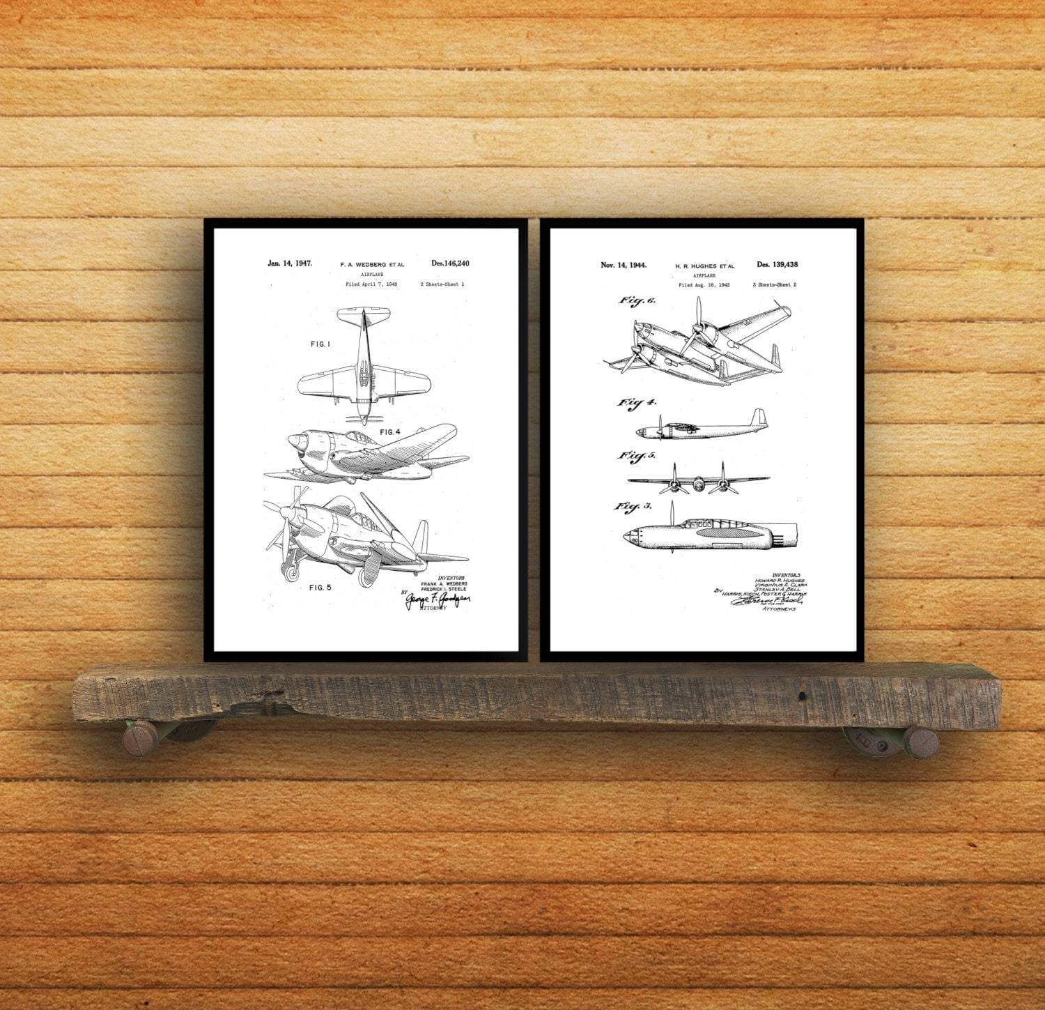 airplane poster set of 2 airplane prints airplane poster