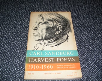Carl Sandburg Harvest Poems 1910-1960 Vintage