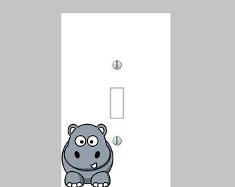 hippo zoo  home Decor, lighting, wall art, Light switch, plate cover, outlets, kids room, home decor, nursery #super awesome switch