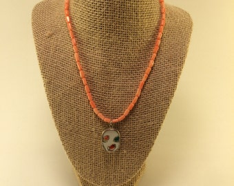 Small Pottery Shard Pendant Necklace