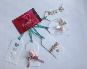 Pack of 5 Shabby Chic gift tags