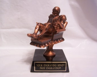 Fantasy Football Armchair Quarterback Trophy Free Engraving!