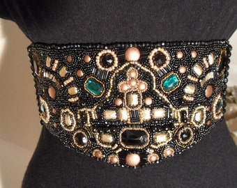 Large Bead Embellished Belt