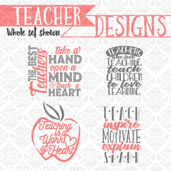 Teaching Teacher Gift Apple Inspiring SVG DXF EPS Ai scalable vector Instant Download Commercial Use Cutting FIle Cricut Silhouette