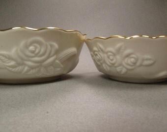 Set of 2 LENOX Rose Blossom Bowls
