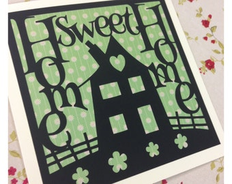 Home Sweet Home Paper Cutting Template - Commercial Use