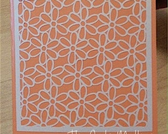 Daisy Pattern Paper Cutting Template - Commercial Use