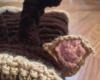 Crocheted dog snood