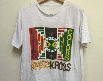 Rare Vintage Kriss Kross Living Colors Hip Hop Rap Cross Colours