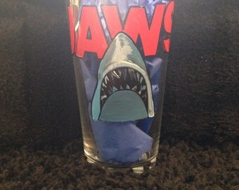 Jaws pint glass
