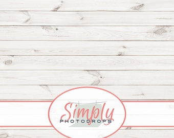 TEXTURED WHITE WOOD floor vinyl Photography Backdrop