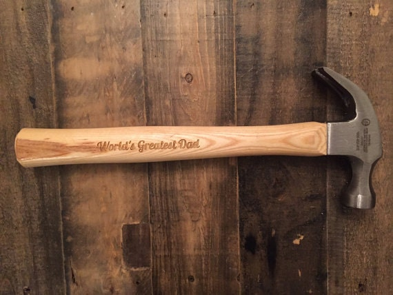 SALE! - Personalized Engraved Hammer - Valentine's Day, Dad's Gift, Birthday Gift, Groomsman, Wedding, Father's Day, Wood Hammer, Wooden