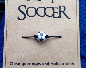 Eat, Sleep Play Soccer Wish Bracelet