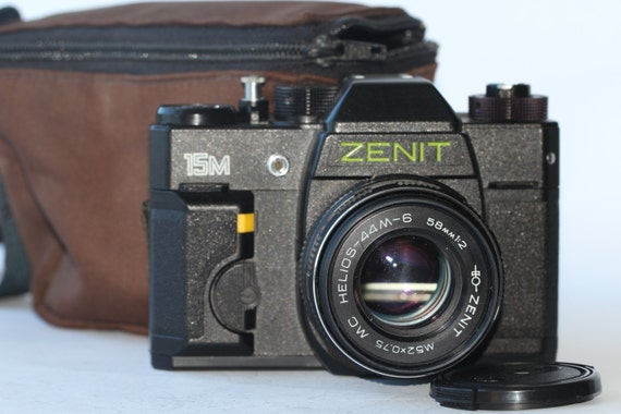 Zenit 15M Helios-44M-6 Black SLR 35mm BelOMO Camera Made in Belarus N9448320
