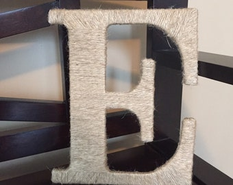 Jute/Twine wrapped letter