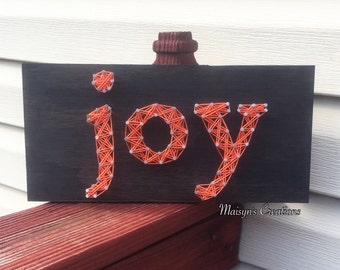 Joy String Art Sign | MADE TO ORDER