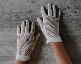 gloves Greige vintage size 7