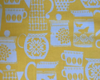 Michael miller put a lid on it quilt fabric in yellow