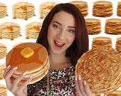 Pancake Pancakes Clutch Purse Bag Food Jewelry Accessories American Dutch Food Breakfast Design Designer Rommydebommy Fun Cute Honey Butter