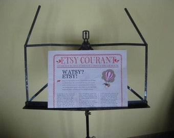 Vintage French folding music sheet holder, music sheet stand from the 50's.