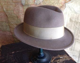 Vintage Gray Fedora Hat size 7
