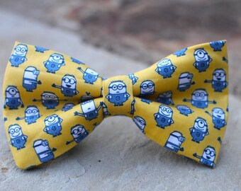 Despicable Minions Bow Tie | Bow Tie for Men | For Him | Bowtie | Self Tie | Dog Bow Tie | Mens Bow | Gift for Him | Gift for Teenager