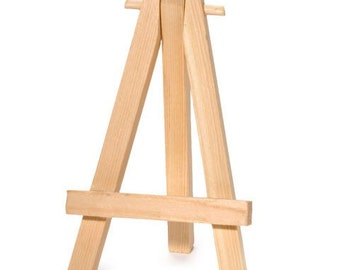 Mini wooden display easels