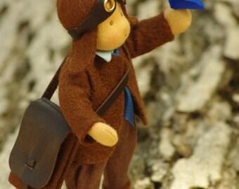 Pilot waldorf doll - good friend for boy // original gift