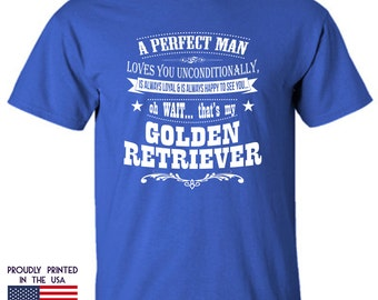 Gifts for dog lovers A perfect man Golden Retriever Ttd3