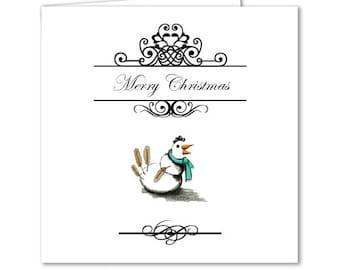 Snow Chicken Christmas Card
