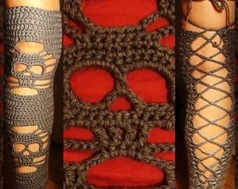 Crochet Skull Legwarmers