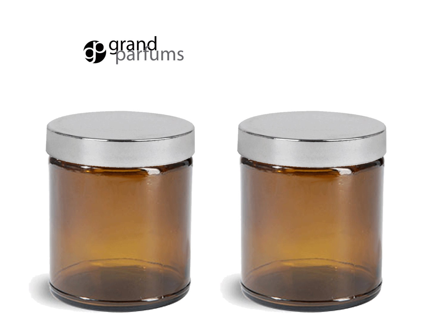 3 amber glass 8 oz empty cosmetic jars 240ml w smooth upscale. Black Bedroom Furniture Sets. Home Design Ideas