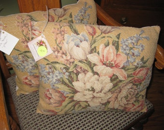 Vintage bark cloth pillows