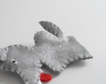 Wolf finger puppet - wolf, puppet, grey wolf, finger puppets, felt finger puppets -