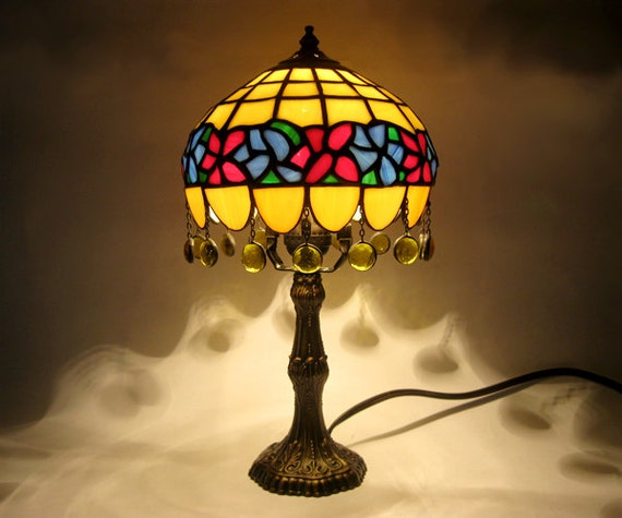 Lamparas Color Glass Led Table Lamp Hand Made Tiffany Desk: Stained Glass Lamp Tiffany Table Lamp Decorative Lampshade