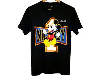 Vintage MICKEY MOUSE Shirt by Screen Stars Best 80s Walt Disney Size Medium