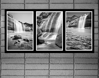 Fine Art Prints   Grand Falls Arizona  Waterfall Trio   Three Black U0026 White  Photographs