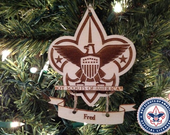 Boy scout ornament etsy for Cub scout ornament craft