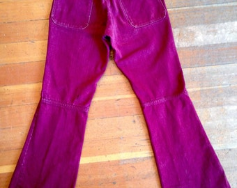 "70's Bell Bottom jeans. Men's-Women's~ 30""w"