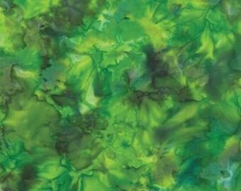 MODA - Tropical Punch Batiks - Lime - Batiks - 4338 24 - Green - Batik  - Moda Batiks - One More Yard
