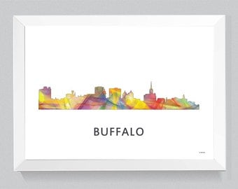 Buffalo, New York Skyline WB1