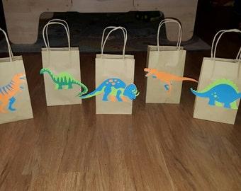 Dinosaur favor bags | Etsy