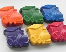 Train Crayons   Set of 6   Birthday gift   Party Favour   Novelty Crayons   Gifts for Kids   Train Party   Colouring actvities   Crayons