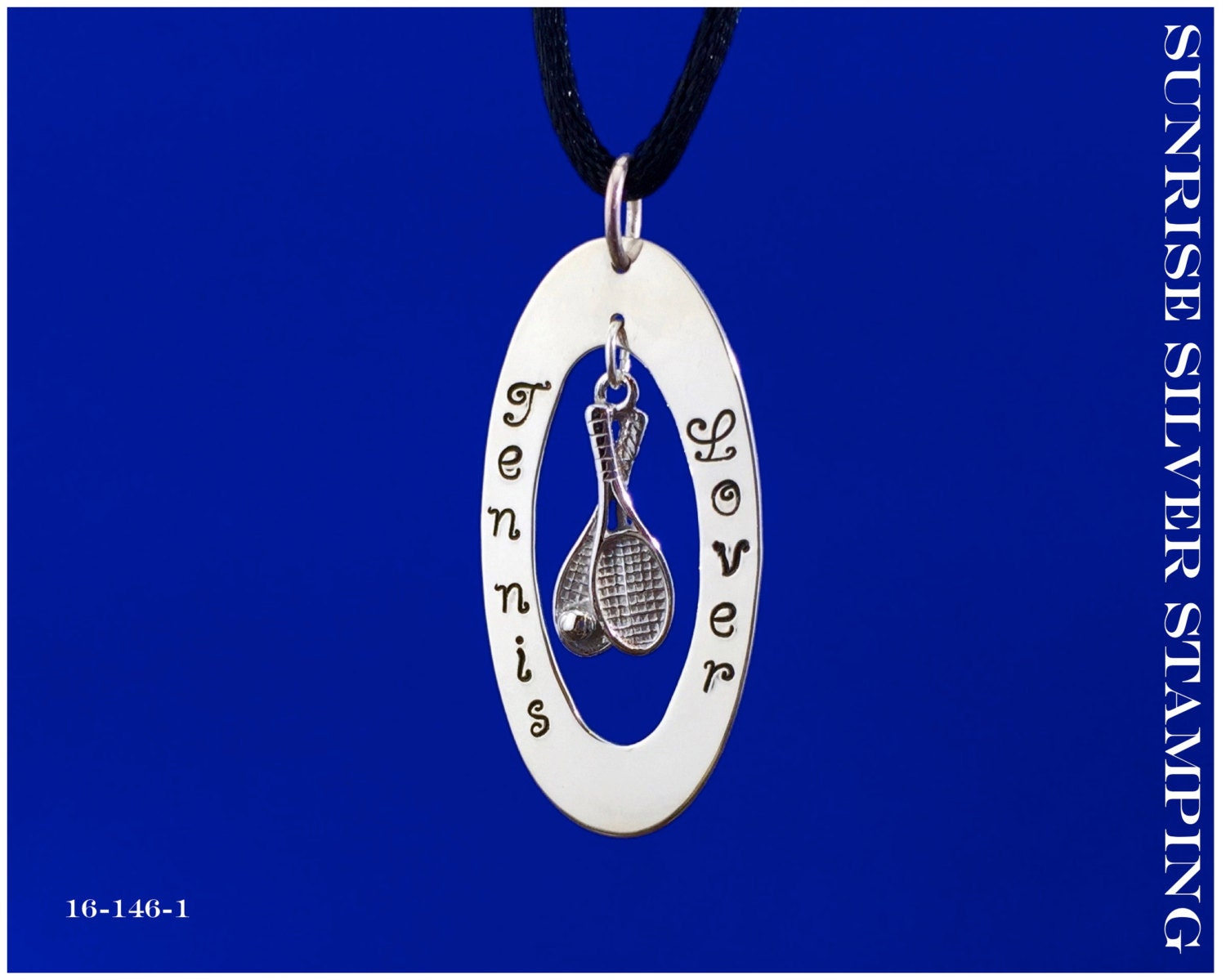 tennis lover pendant sterling silver tennis necklace tennis